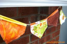Craftaholics Anonymous® | Fall Bunting Tutorial