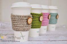 Frayed Knot's 15 min Coffee Sleeve! FREE Pattern