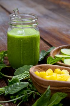 Dehydration-Busting Pineapple Cucumber Mint Smoothie - Pickles & Honey