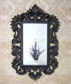 HOLLYWOOD REGENCY MIRROR For Sale Large Syroco by RevivedVintage, $224.00