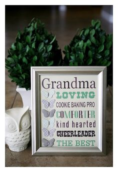 Gift for Mother's Day.  Could make for an aunt, grandma, mom, friend, etc