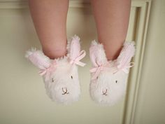 Pink Bunny Infant & Toddler Slippers-