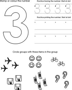 Preschool number and alphabet tracing printables...I could use this though for my friends that print numbers backwards!!!