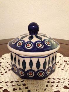 Polish Pottery Trinket / Candy Dish by MimisMiniMarketplace, $18.00