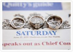 Ring pic on newspaper/date