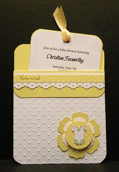 Pocket baby shower invitations