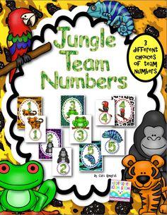 Team/Table numbers FREEBIE - Super cute way to display your team numbers