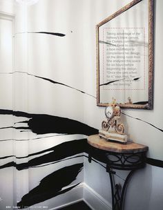 Splash of black wall graphic