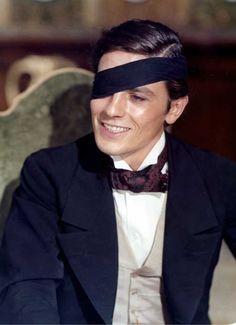 Alain Delon in The Leopard (Visconti, 1963).