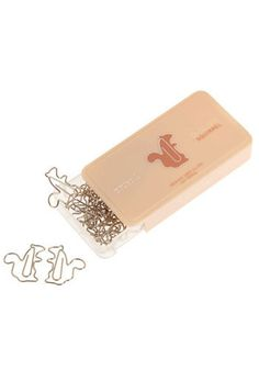 squirrel paper clips.