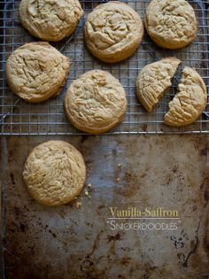 Vanilla Saffron Cookies