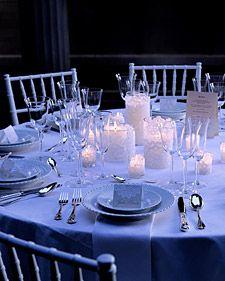 centros de mesa con encaje y velas