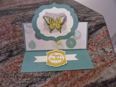 Carolyn's Card Creations: Papillon Butterfly Easel Card