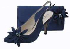 Rosa Navy Evening Shoes