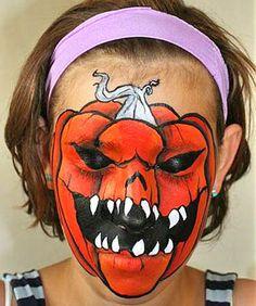 Crazy Halloween Makeup Ideas (pumpkin,scary pumpkin,halloween,makeup,facepaint,face paint,halloween makeup,halloween facepaint,halloween face paint,halloween bodypaint)