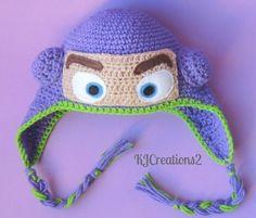 Crochet Toy Story Buzz Lightyear Earflap Beanie Hat - Etsy $25.00