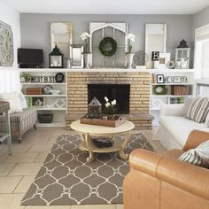 Family room mantel f