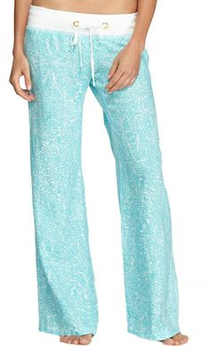 Lilly Pulitzer Linen Beach Pant in Shorely Blue Ice Cake