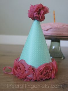 Make your own party hat with this template. thecraftingchicks.com how to make a party hat, birthday parti, make your own party hat, how to make a birthday hat, diy party hat template, parti hat, diy birthday hat template, parti idea, diy parti