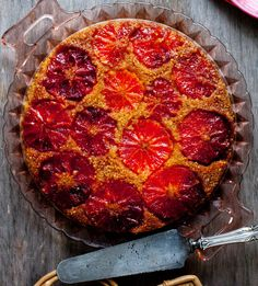 Upside-down blood orange cake. Photo: Andrew Scrivani for The New York Times