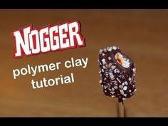 Polymer clay tutorial Algida Nogger Ice cream Popsicle - YouTube