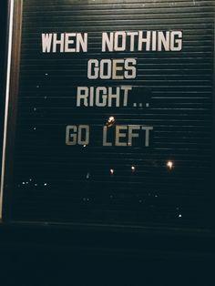 keep going.