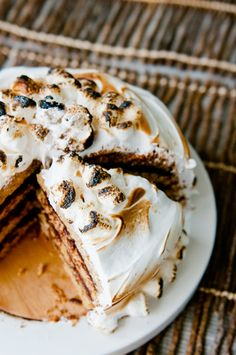 Inside Out S'mores Cake