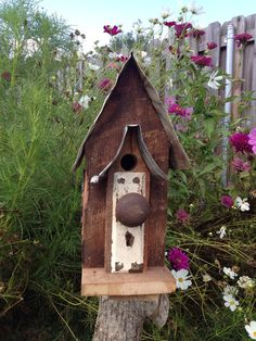 Salvage birdhouse by TheSouthFields on Etsy
