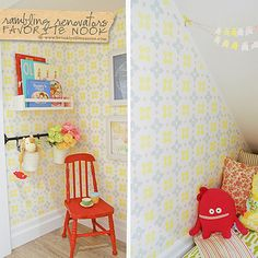 Homeowners turned an unused nook under the stairs into a secret hideaway for their daughter- so adorable!