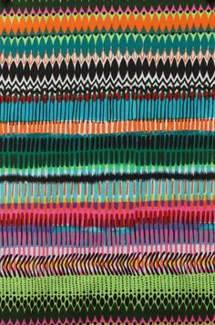 Matchstick by Alexander Henry Fabrics   #fabric #contemporarycloth - another interesting, colorful fabric to use in quilts or home dec!!!
