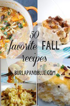 50 fall recipe favorites