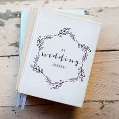 Wedding Journal Notebook Wedding Planner  by inoroutmedia on Etsy, $38.00