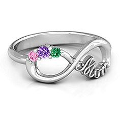 Mom's Infinite Love - Infinity Mother's Ring for Mother's Day. #jewlr