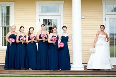 Amsales chiffon bridesmaids in french blue