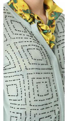 L'Wren Scott Morse Code Beaded Cardigan