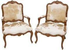 Elegant cowhide chairs