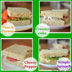 Have a tea party with these mini tea sandwiches! #healthyparties #sandwiches #kidsfood