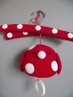 I love the crocheted covered hangers