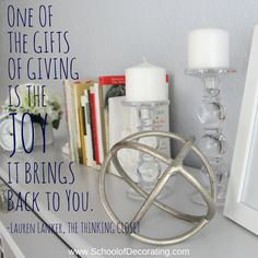 """One of the gifts of"