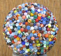 diy, garden glass art globe.