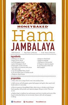 HoneyBaked Ham Jambalaya   #HoneyBaked #Ham #Jambalaya #Recipe www.HoneyBaked.com
