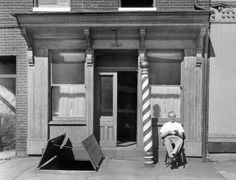 Fells Point Barber Shop, Baltimore, Maryland 1956: (This photograph of a Fells Point Barber Shop was accepted into the National Press Photographers Association traveling show.)