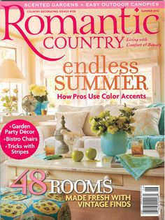 Beach Town Posters - News & Press: Romantic Country Magazine Summer 2012