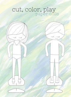 paper dolls, printabl paper, kid