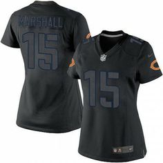 $79.99 Women's Nike Chicago Bears #15 Brandon Marshall Limited Impact Black Jersey