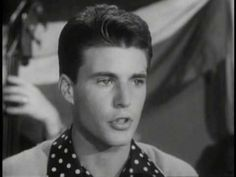 """For all you older boomers - here's a Ricky Nelson song and video you will remember I am sure - from 1960 a hit Ricky had with the song called """"Young Emotions.'"""