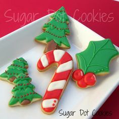 Sugar Dot Cookies: Christmas Sugar Cookies with Royal Icing 2012