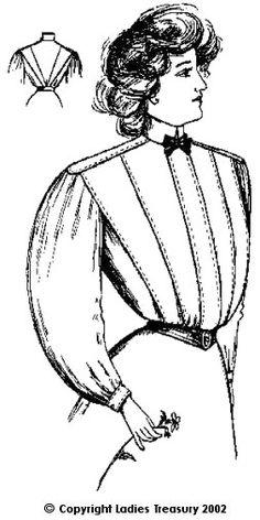 Free Pattern: Ladies Shirt Waist 1907