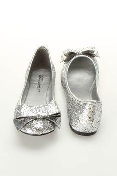 Breckelles Erika 23 Glitter Ballet Flats In Silver- Prom?:)