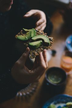 Seeded bread and avo